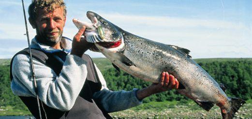 Весенняя ловля лосося