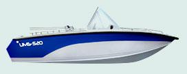 Катер UMS 520 DCAL - просторный и комфортабельный катер, в котором...