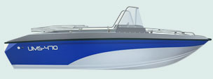 Катера компании UMS BOAT 400-й серии.