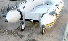 Для транспортировки лодок мы предлагаем четыре модели быстросъемных колес