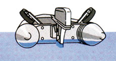 легко установить колеса, как в транспортное, так и в рабочее положение