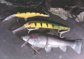 Искусственная рыбка Castiac, и плавающие воблеры