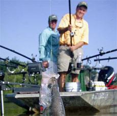 На троллинговой рыбалке - не бойтесь скорости!