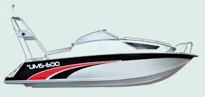 UMS 600 Cruiser - модель 2009 года, комфортабельный катер...