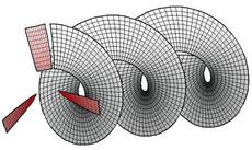 Если лопасть отходит прямо от втулки, или даже если перпендикулярно к ней, то такой гребной винт имеет нулевой гребок.
