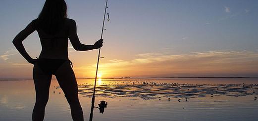 Женские соревнования по рыбной ловле под Киевом